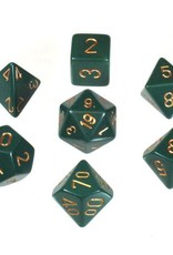Chessex Chessex 7-Die set Opaque - Dusty Green/Copper