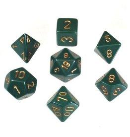 Chessex Chessex 7-Die set Opaque - Dusty Green/Copper