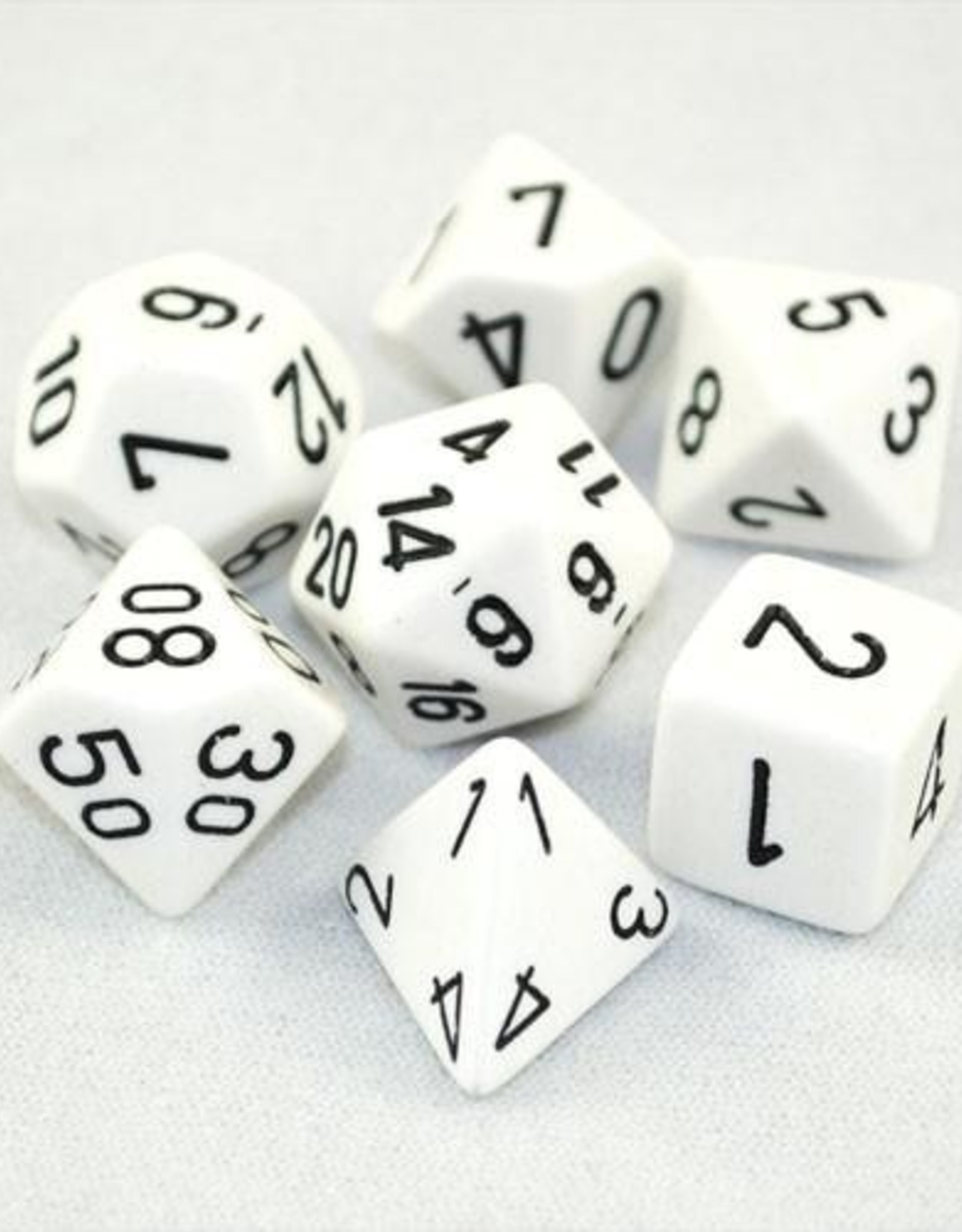 Chessex Chessex 7-Die set Opaque - White/Black