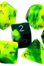 Chessex Chessex 7-Die set Gemini - Green-Yellow/Silver