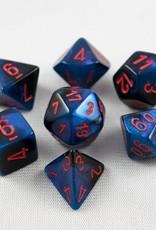 Chessex Chessex 7-Die set Gemini - Black-Starlight/Red