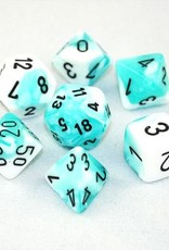 Chessex Chessex 7-Die set Gemini - Teal-White/Black