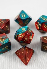 Chessex Chessex 7-Die set Gemini - Red-Teal/Gold