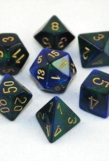 Chessex Chessex 7-Die set Gemini - Blue-Green/Gold
