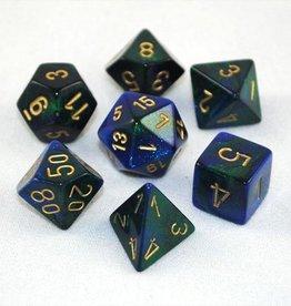 Chessex Chessex 7-Die set Gemini - Blue-Green/Gold