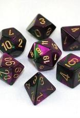 Chessex Chessex 7-Die set Gemini - Green-Purple/Gold