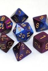 Chessex Chessex 7-Die set Gemini - Blue-Purple/Gold