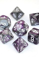 Chessex Chessex 7-Die set Gemini - Purple-Steel/White