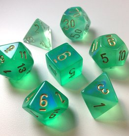 Chessex Chessex 7-Die set Borealis - Light Green/Gold