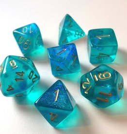 Chessex Chessex 7-Die set Borealis - Teal/Gold