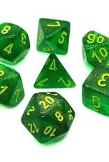 Chessex Chessex 7-Die set Borealis - Maple Green/Yellow