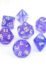 Chessex Chessex 7-Die set Borealis - Purple/White