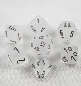 Chessex Chessex 7-Die set Frosted - Clear/Black