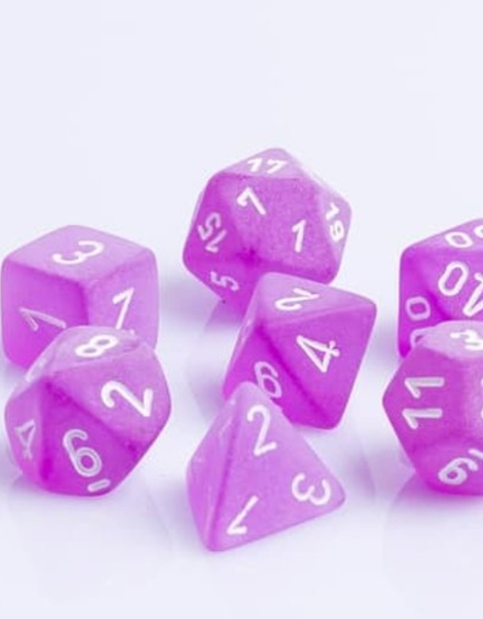 Chessex Chessex 7-Die set Frosted - Purple/White