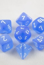 Chessex Chessex 7-Die set Frosted - Blue/White