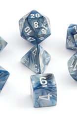 Chessex Chessex 7-Die set Lustrous - Slate/White