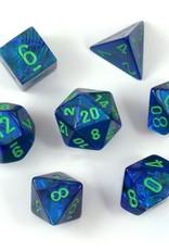 Chessex Chessex 7-Die set Lustrous - Dark Blue/Green