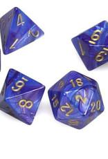 Chessex Chessex 7-Die set Lustrous - Purple/Gold