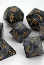 Chessex Chessex 7-Die set Lustrous - Black/Gold