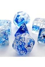 Chessex Chessex 7-Die set Nebula - Dark Blue/White