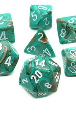 Chessex Chessex 7-Die set Marble - Oxi-Copper/White