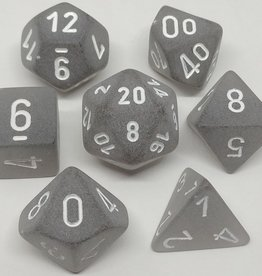 Chessex Chessex 7-Die set Frosted - Smoke/White