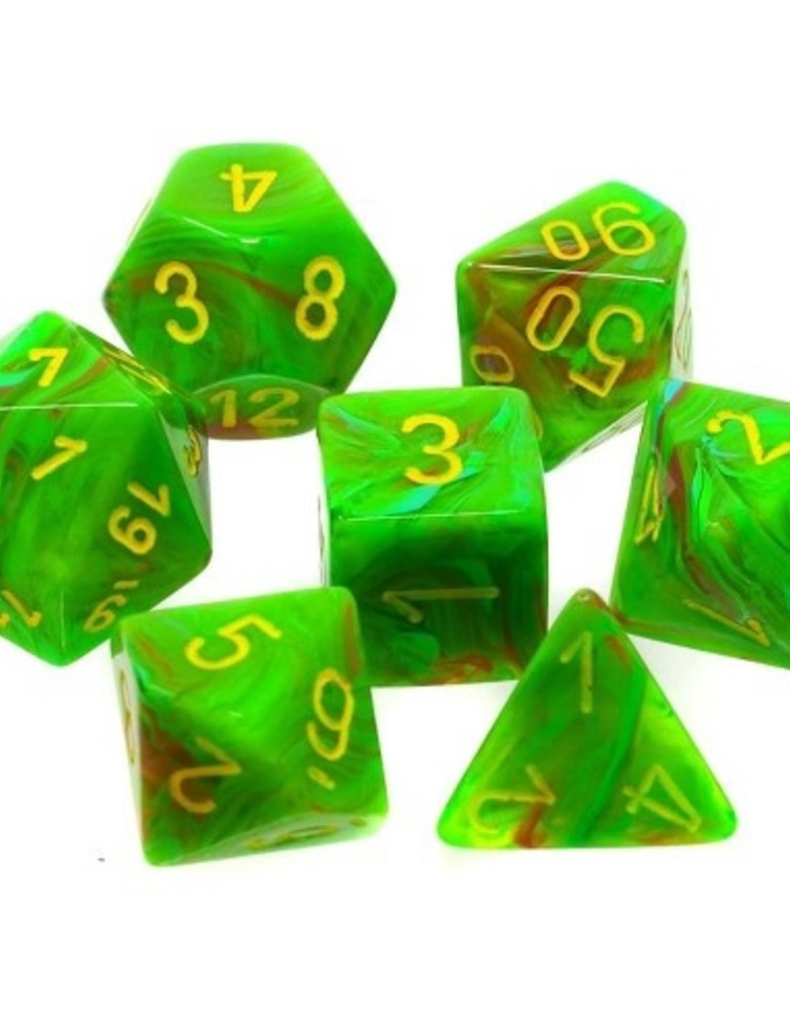 Chessex Chessex 7-Die set Vortex - Slime/Yellow
