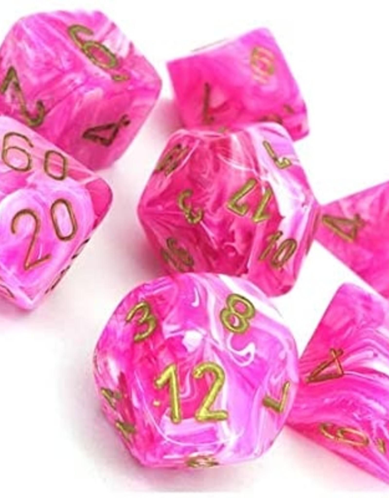 Chessex Chessex 7-Die set Vortex - Pink/Gold