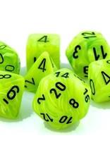 Chessex Chessex 7-Die set Vortex - Bright Green/Black