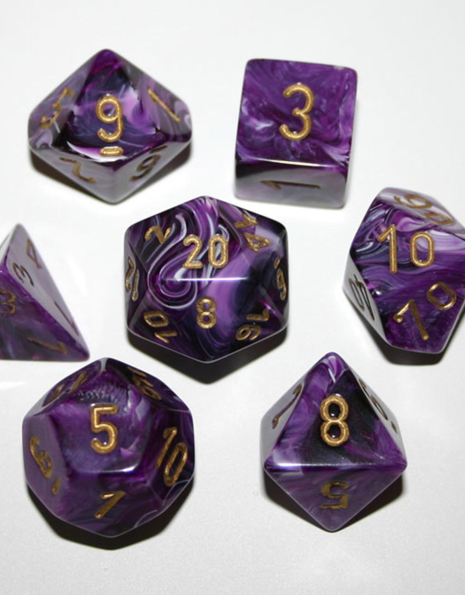 Chessex Chessex 7-Die set Vortex - Purple/Gold