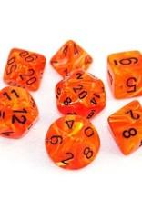 Chessex Chessex 7-Die set Vortex - Orange/Black
