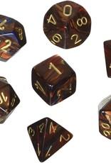 Chessex Chessex 7-Die set Scarab - Blue Blood/Gold