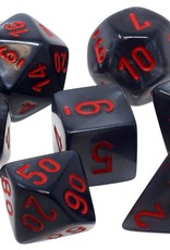 Chessex Chessex 7-Die set Velvet - Black/Red