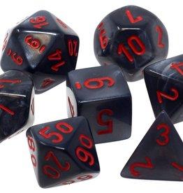 Chessex Chessex 7-Die set Velvet - Black/Red