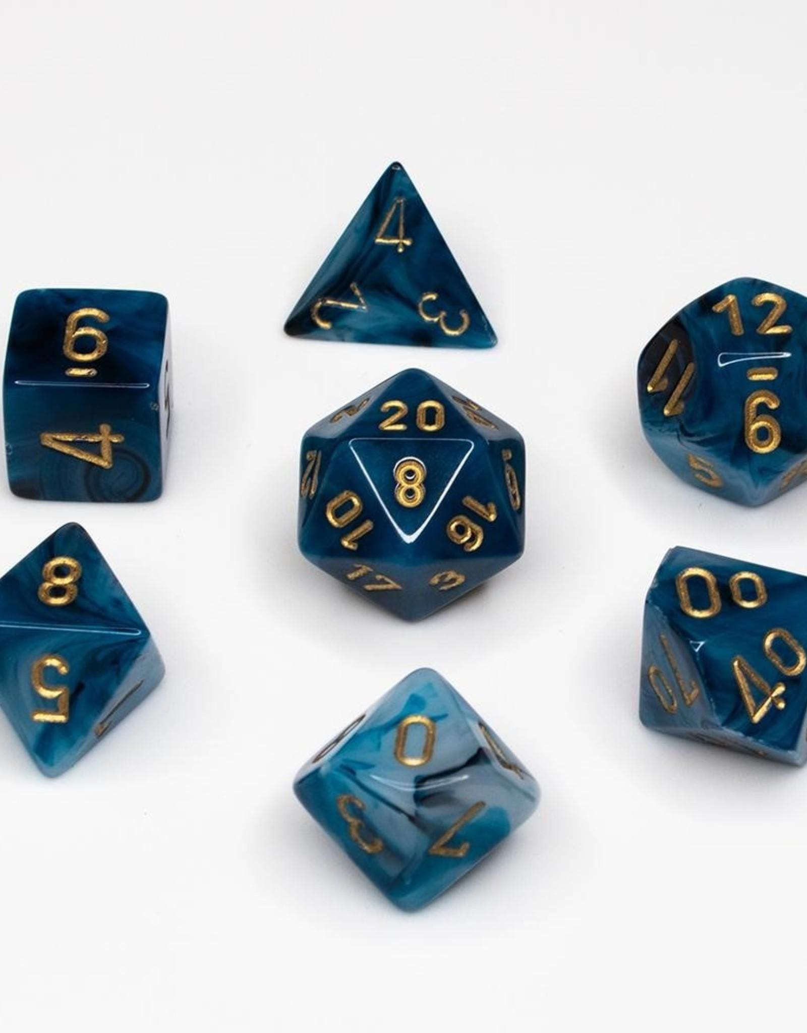 Chessex Chessex 7-Die set Phantom - Teal/Gold