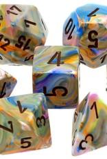 Chessex Chessex 7-Die set Festive - Vibrant/Brown