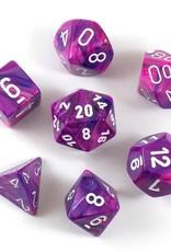 Chessex Chessex 7-Die set Festive - Violet/White