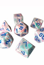 Chessex Chessex 7-Die set Festive - Pop Art/Blue