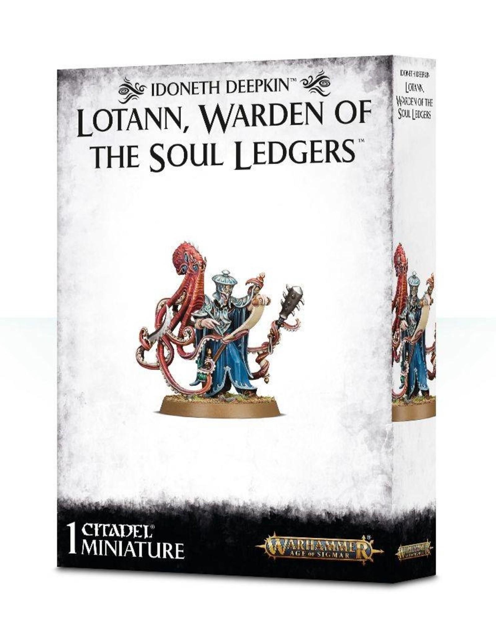 Games Workshop Idoneth Deepkin Lotann. Warden of the Soul Ledgers