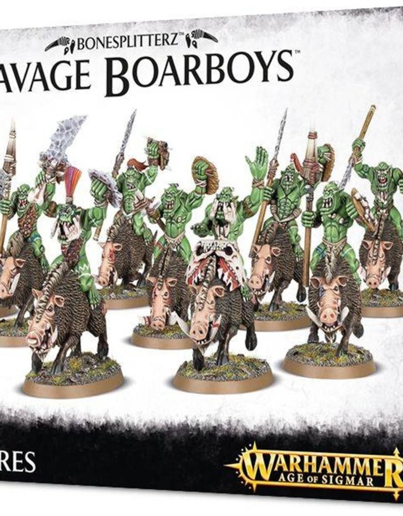 Games Workshop Bonesplitterz Savage Boarboyz