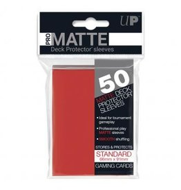 Ultra Pro Sleeves, Standard Pro-Matte Red (50)
