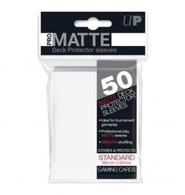 Ultra Pro Sleeves, Standard Pro-Matte White (50)