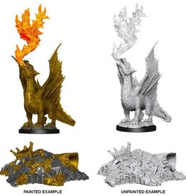 Wizkids D&D Nolzur's Marvelous Miniatures Gold Dragon Wyrmling and Small Treasure Pile