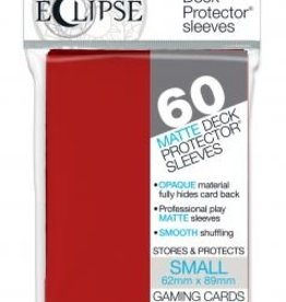 Ultra Pro Sleeves, Small Eclipse Apple Red (60)