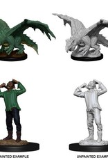 Wizkids D&D Nolzur's Marvelous Miniatures Green Dragon Wyrmling and Afflicted Elf