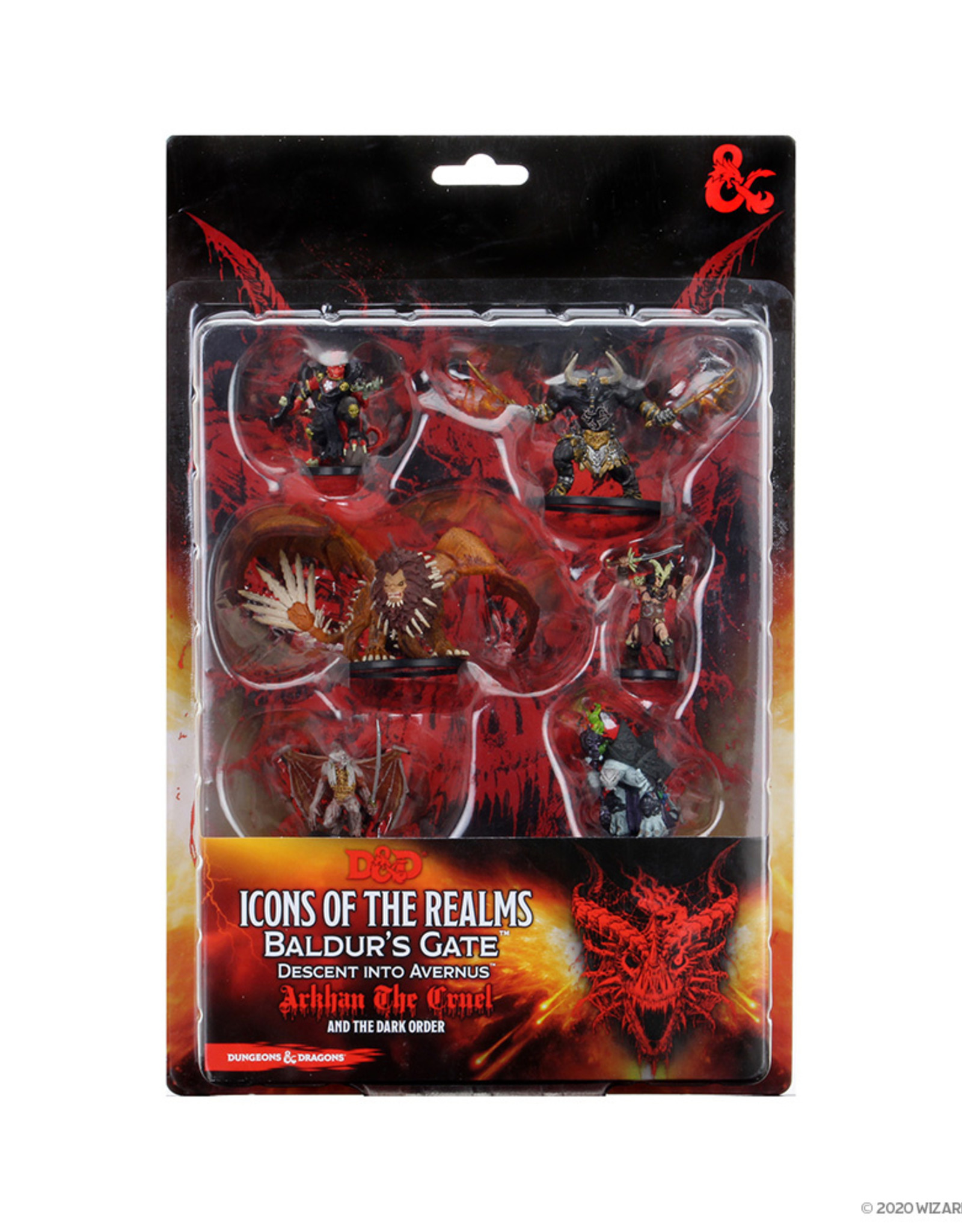 Wizkids D&D Icons of the Realms Figure Pack Descent into Avernus: Arkhan the Cruel and The Dark Order