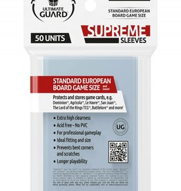 Ultimate Guard Supreme Boardgame Sleeves Standard European (50) (62x94mm)