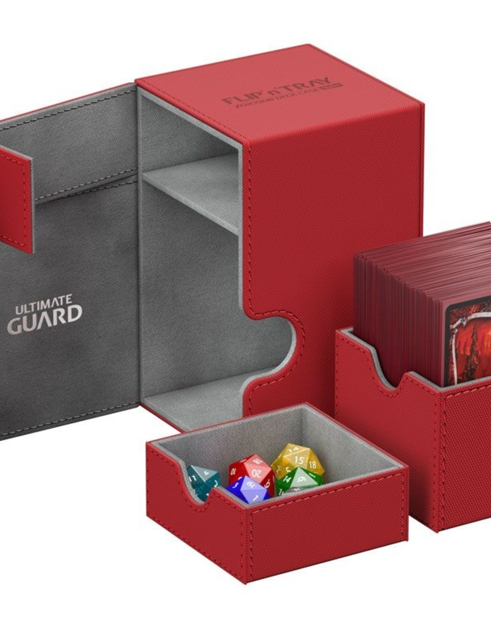 Ultimate Guard Flip´n´Tray Deck Case 100+ Standard Size Red