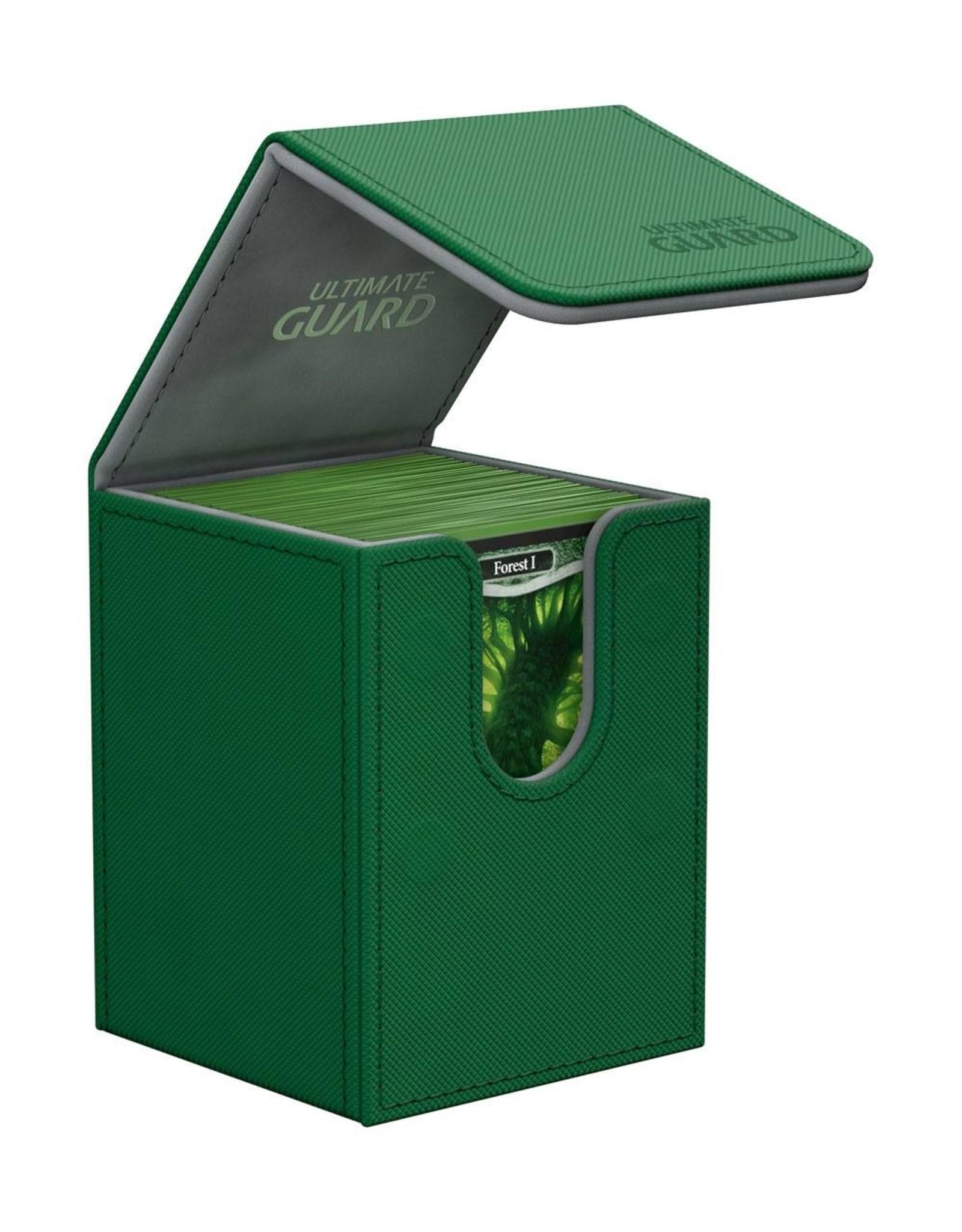 Ultimate Guard Flip Deck Case 100+ Standard Size XenoSkin Green