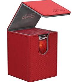 Ultimate Guard Flip Deck Case 100+ Standard Size XenoSkin Red